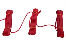 Roliba - Flisesnor rød m/hjerte 6 mm 10m x 10 rul