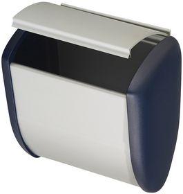 Hermeta - Affaldsspand sølv/blå 2,5l t/vægmontering