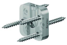 Eurotec - Endetræsbeslag Magnus XS 30x30mm, 20 sæt inkl. skruer