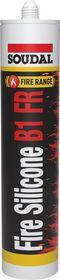 Soudal - Brand silicone B1 FR grå 300 ml