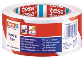 Tesa - Advarselstape rød/hvid