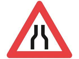 Saferoad - Advarselstavle indsnævring begge sider