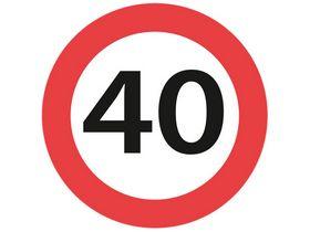 Sydvesta - Forbudstavle max hastighed 40