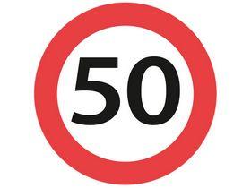 Sydvesta - Forbudstavle max hastighed 50