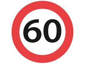 Sydvesta - Forbudstavle max hastighed 60