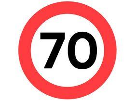 Sydvesta - Forbudstavle max hastighed 70
