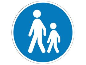 Saferoad - Påbudstavle  gangsti D22