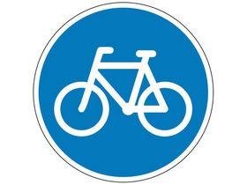 Sydvesta - Påbudstavle cykelsti D21