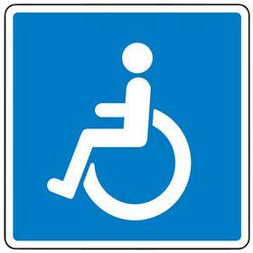 """- Oplysningstavle E23.1""""invalide V"""""""