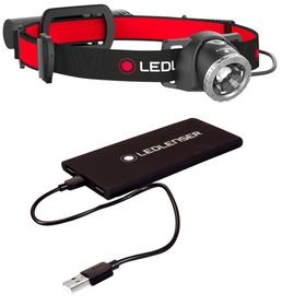 LED LENSER - Pandelampe H8R m/powerbank