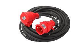 BASIXX - CEE forl.kabel, 3 fas, 16A, fasev, stikprop og forl.led, 10m