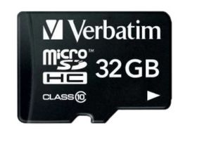 Verbatim - Micro SD-kort m/adapter, 32GB