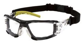 Pyramex - Sikkerhedsbrille Fyxate Foam Grå/lime, Klar linse