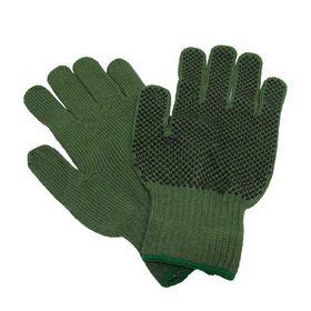 OS - Handske strikket grøn med dotter