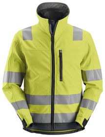 Snickers - Jakke softshell AllroundWork 1230 orange/koksgrå, kl.3