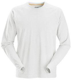 Snickers - T-shirt med L/Æ 2410 Hvid