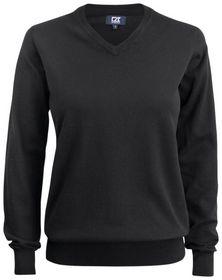 Cutter Buck - Sweater Dame C & B V-hals Black