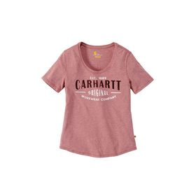 Carhartt - T-shirt Dame  103589 Brick Dust Heather