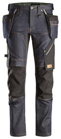 Snickers - Arbejdsbuks Denim 6955 Denim/sort Str. 44