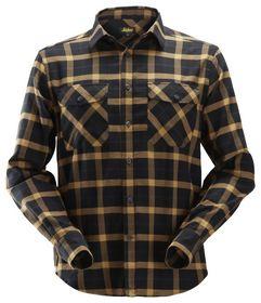Snickers - Skjorte Flannel 8516 Ternet Sort/Brun Str. XS