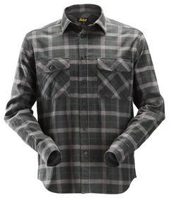 Snickers - Skjorte Flannel 8516 Ternet Gråmeleret Str. XS