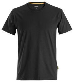 Snickers - T-shirt 2526 Organic Cotton Sort Str. XS