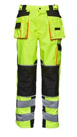 Elka-Rainwear - Visible xtreme taljebuks 082404R-042FL Gul/Sort str.S