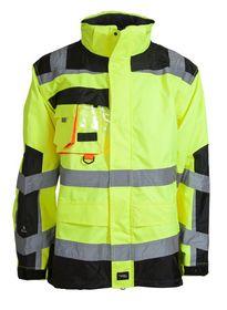 Elka-Rainwear - Visible xtreme jakke 086004R-042 FL Gul/Sort str.S