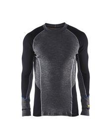 Blåkläder - Undertrøje 48971732 Warm Mellemgrå/Sort Str. XS