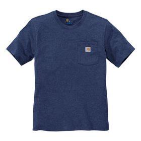 Carhartt - T-shirt m/lomme 103296 Dark Cobalt Blue