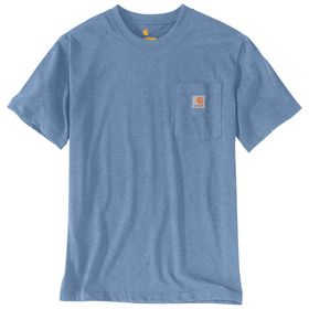 Carhartt - T-shirt m/lomme 103296 Coastal/lyseblå