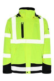 Lyngsøe Rainwear - Flour. Regnjakke 4WS-5057, gul/sort