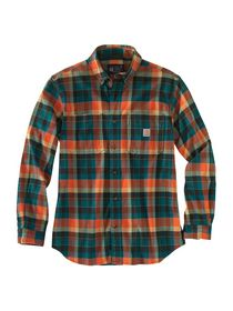 Carhartt - Skovmandsskjorte 104909 orange/grøn. str. S-2XL