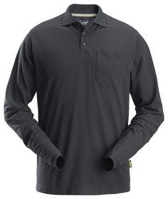Snickers - Poloshirt langærmet 2608 koksgrå, str. XS