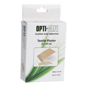 Opti-safe - Plaster tekstil elastisk 6x10 cm 10stk