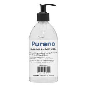 Pureno - Hånddesinfektion m/pumpe Gel 85% 500ml