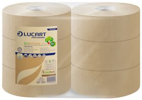 Lucart - Toiletpapir Jumbo Midi 2-lags 100% genbrugspapir á 6 ruller