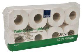 Abena - Toiletpapir 2-lags 100% genbrugspapir á 8 ruller