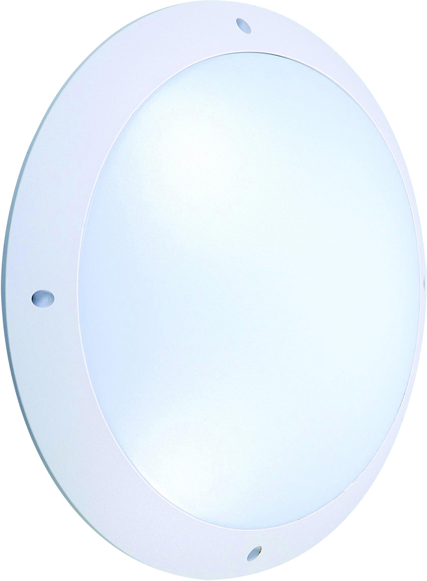Led væglampe m.sensor, rund, 12W, 3000K, IP65